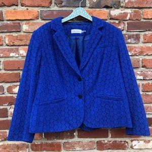 Calvin Klein | royal blue plus size blazer